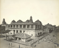 Perspective view from the north-east, Tirumal Naick's Palace, Madura [the British courthouse]